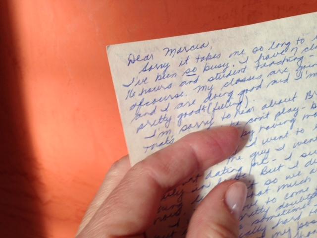 Carol's letter up close.