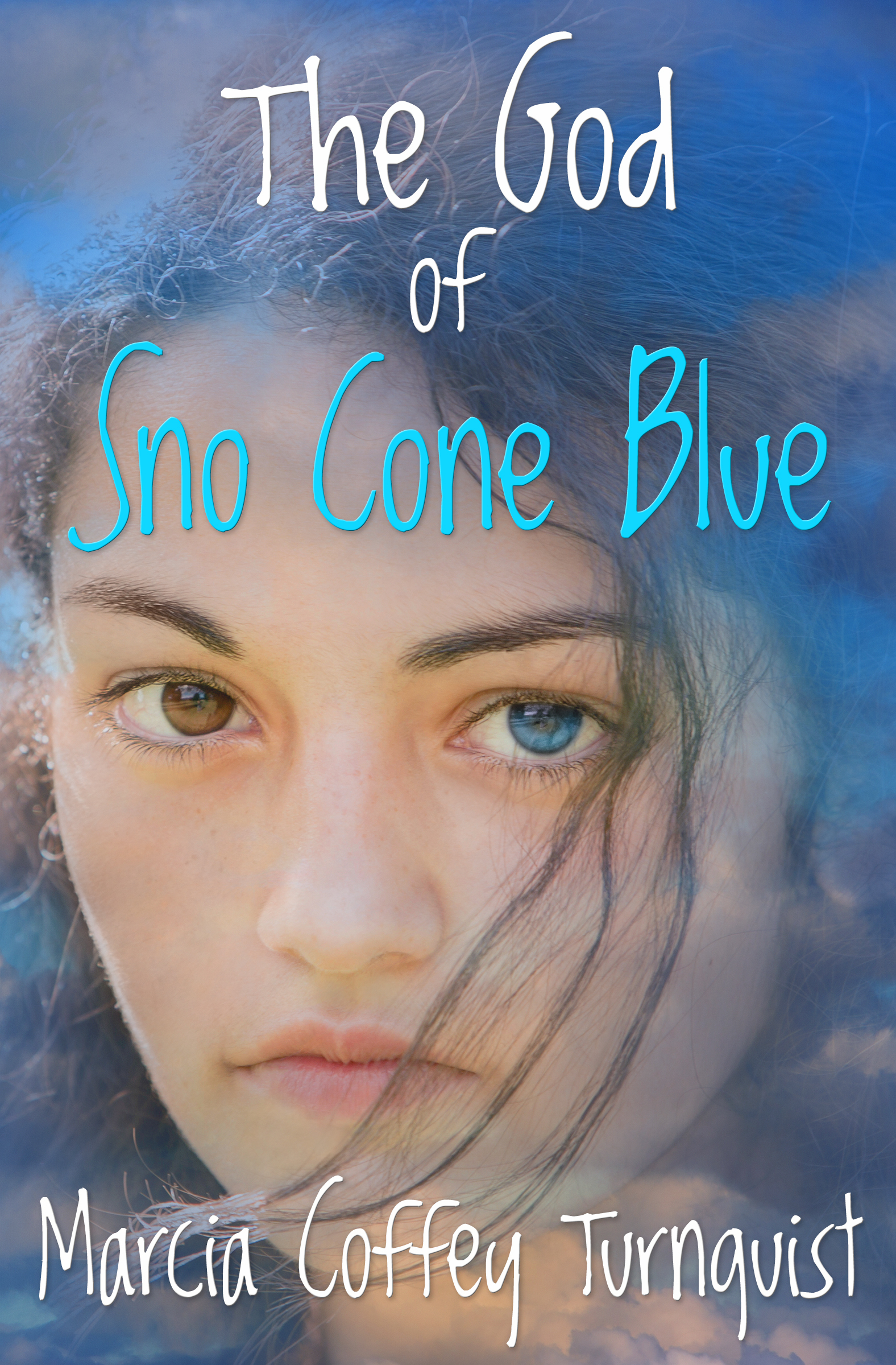 Cover of the Novel The God of Sno Cone Blue.