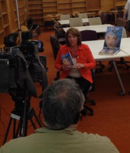 KGW interviewing Marcia Coffey Turnquist.