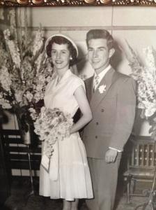 Clayton and Hazel Coffey on their wedding day.
