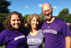 Amelia, Ed and me at Northwestern.