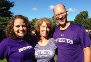 Amelia, Ed and me at Northwestern.