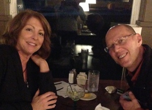 Marcia and Ed out to dinner.
